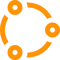 Network pictogram orange