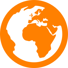 Foresight (globe pictogram orange)